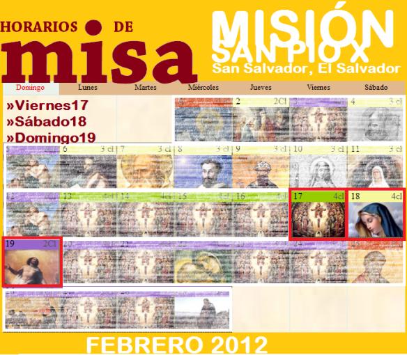 Capilla de la Misión San Pio X en San Salvador.