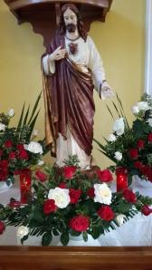 Altar en capilla del Priorato Nuestra Señora de Fatima en Guatemala.